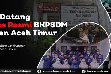 Penyerahan Tanda Kehormatan Satyalancana Karya Satya dan SK Pangkat ASN Kabupaten Aceh Timur